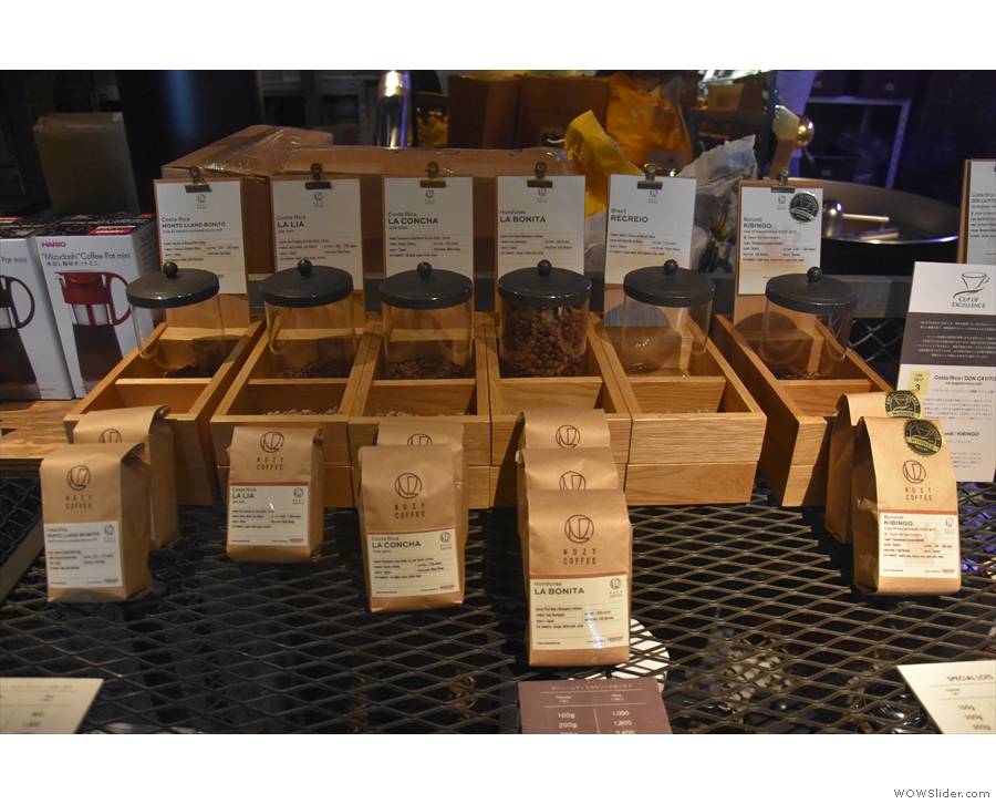 ... as you can see here, with lines of retail bags, plus samples so you can see the roast.