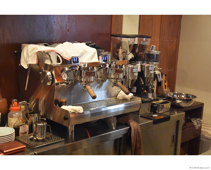 Back downstairs and the Synesso espresso machine is the heart of the operation.