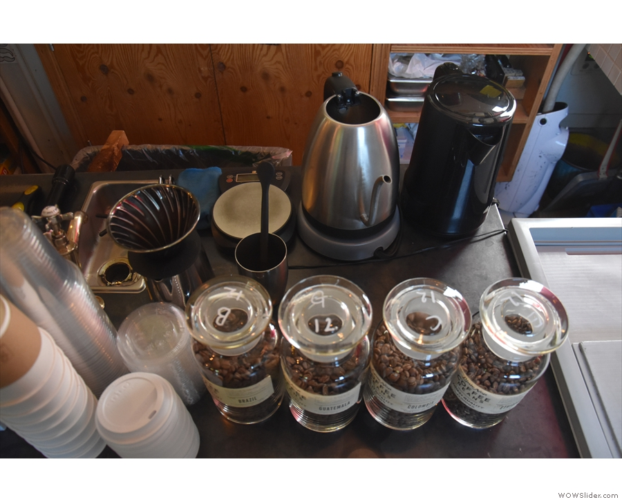 ... followed by the pour-over station...