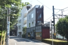 On a quiet street west of Tokyo's Yoyogi Park stands this curiously-shaped building.
