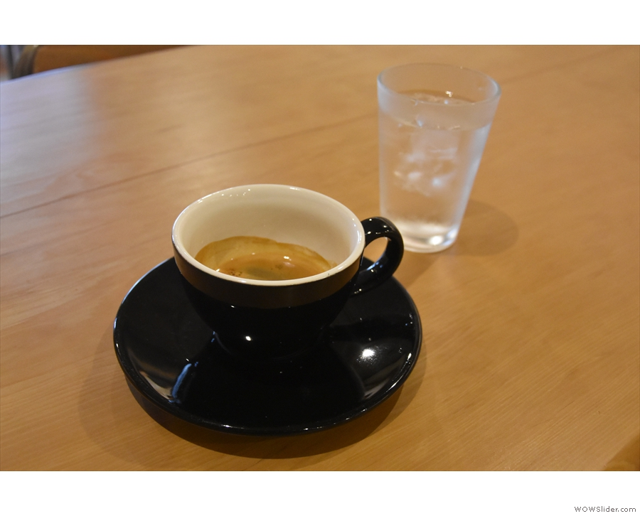 And so to business, a lovely espresso, which I was so impressed with that I bought...