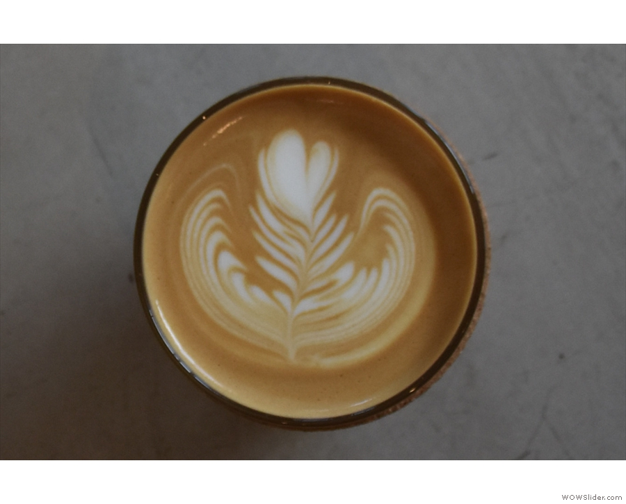... and its lovely latte art.