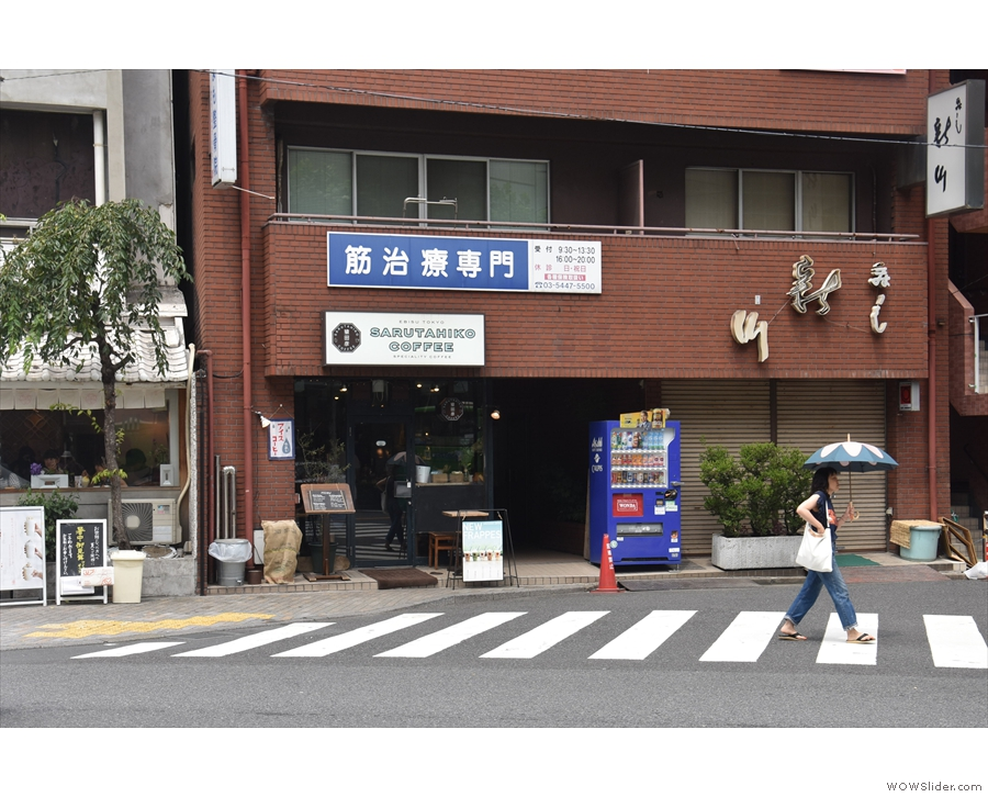 One road over from Ebusi Station in Tokyo, on the far side of the street...