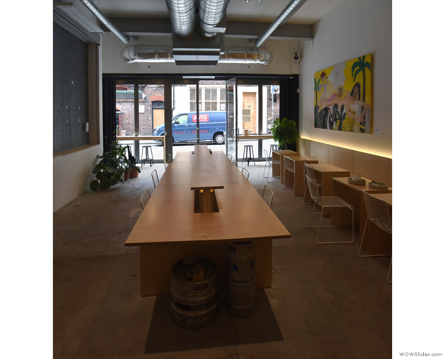 However, the dominant feature is the eight-person table in the centre of the room...