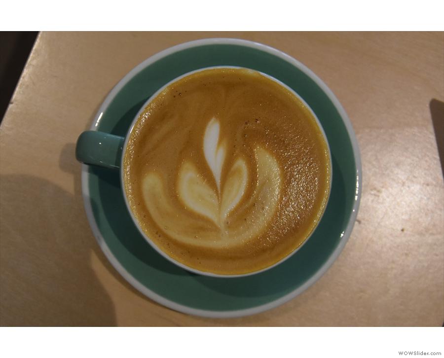 My latte art in more detail.