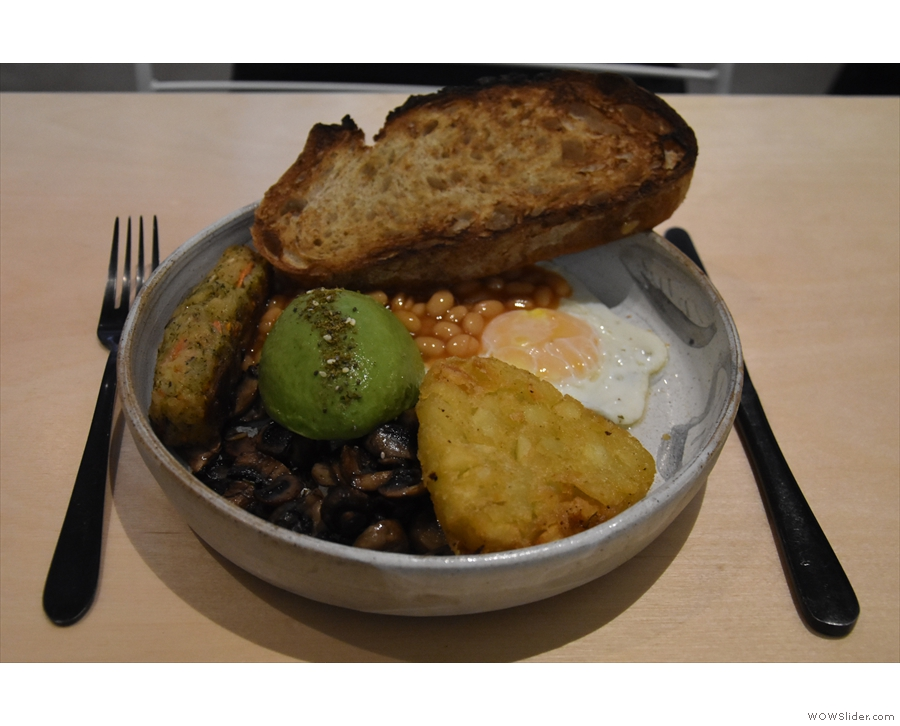I was also there for brunch, tucking into the vegetarian breakfast.
