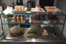 ... passing the tempting array of cakes along the way.