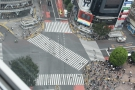 My hotel was directly above the famous Shibuya Crossing. Here's people waiting...