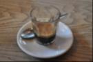 My delightful espresso. In a glass.