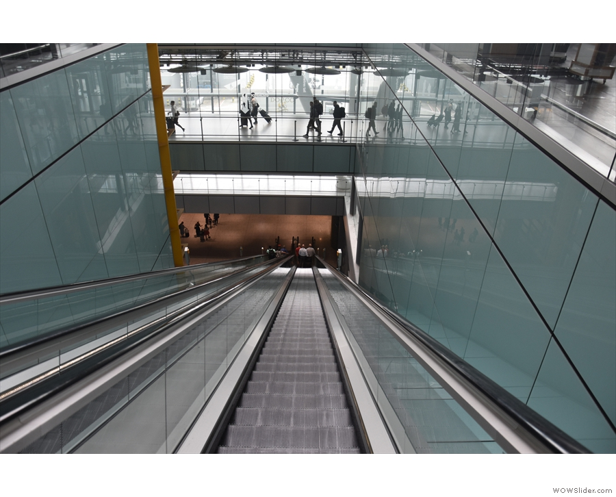 ... of Heathrow on the escalator of doom.