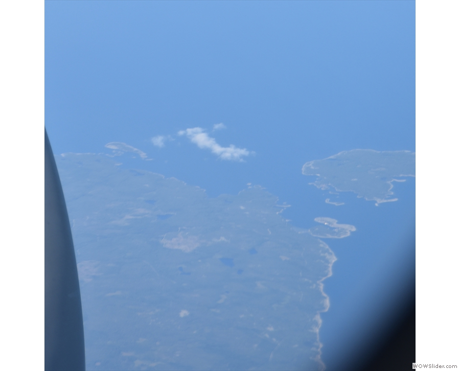 A last look at Sweden as it slips away below us.