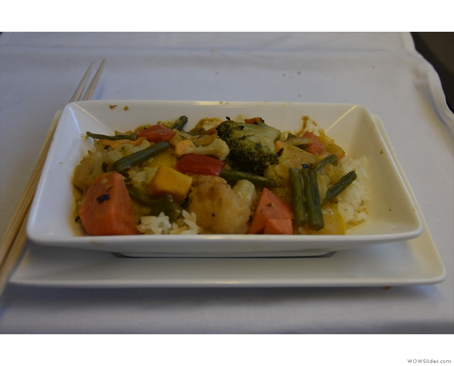 My main course was an excellent vegetable curry with sticky rice.