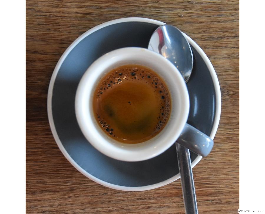My espresso, in a classic cup...