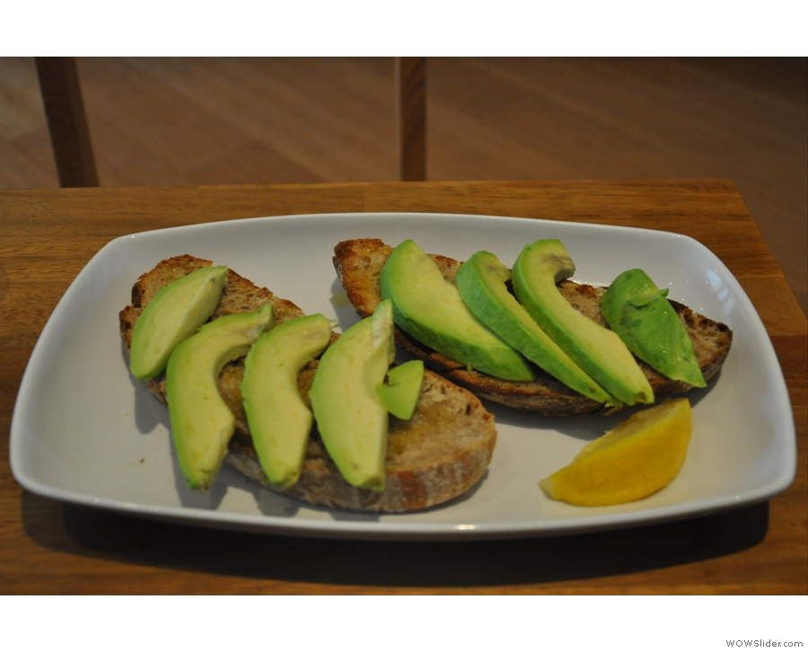 Avocado on toast. Exactly what I ordered. I'm really not sure why I was surprised when it arrived. But I was...