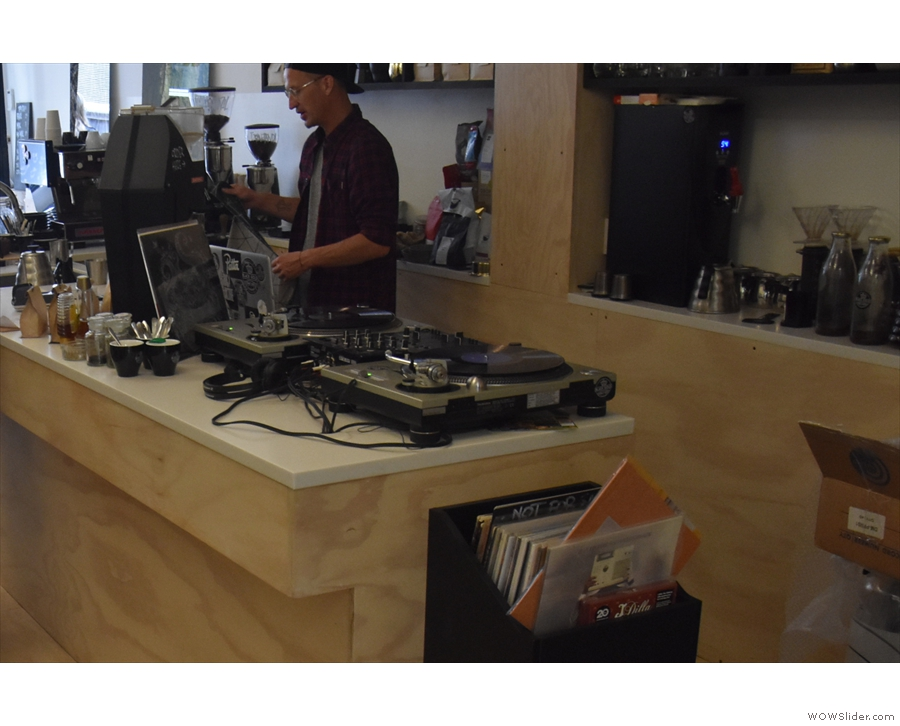 Talking of turntables, there's also one at the far end of the counter...
