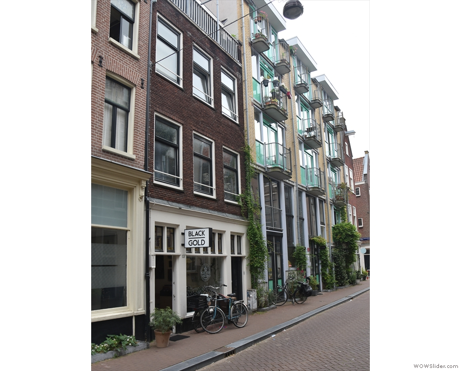 On a quiet, residential street in the centre of Amsterdam...