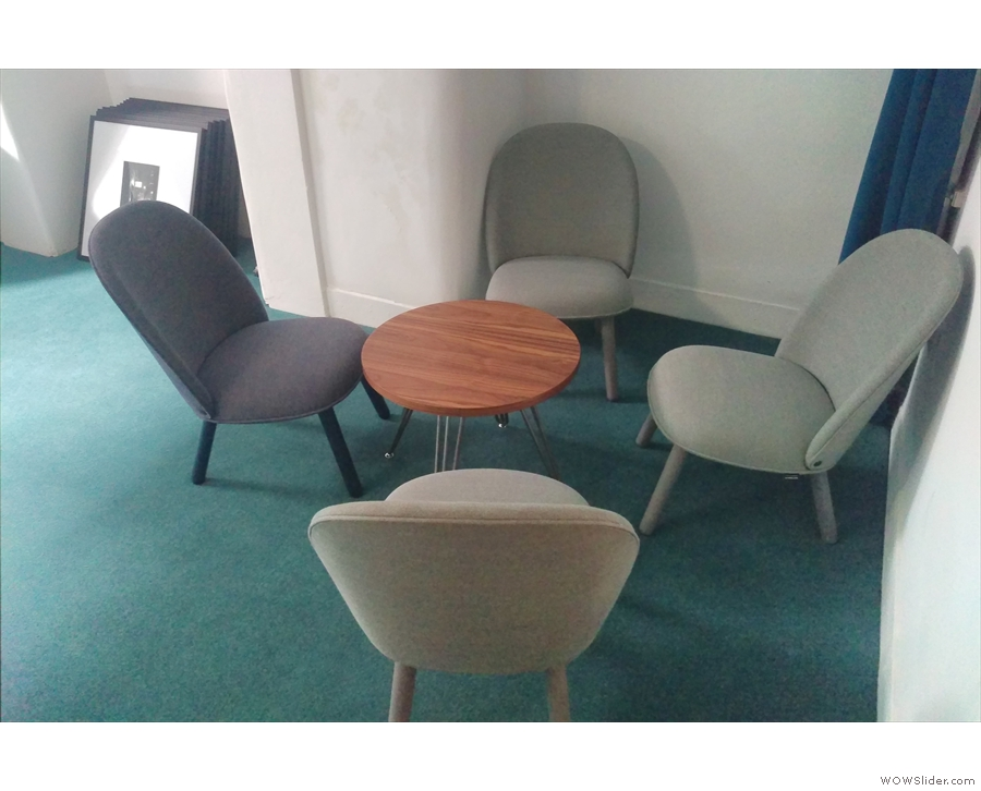 ... which includes these four comfy chairs to the right...