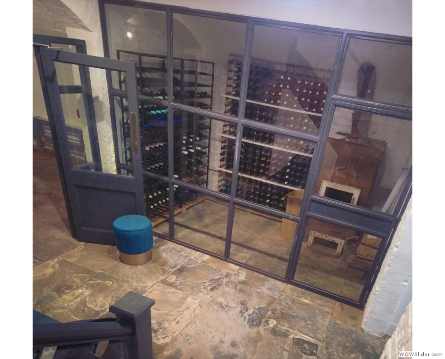 ... to a lovely cellar, which houses, appropriately enough, the Ropes & Twines wine cellar.