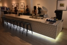 Opposite the piano is a second counter/bar, which is where the coffee magic happens...