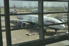 Talking of which, here's the first view of my plane, a Boeing 777-300.