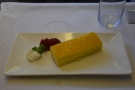 Dessert, a cheesecake...