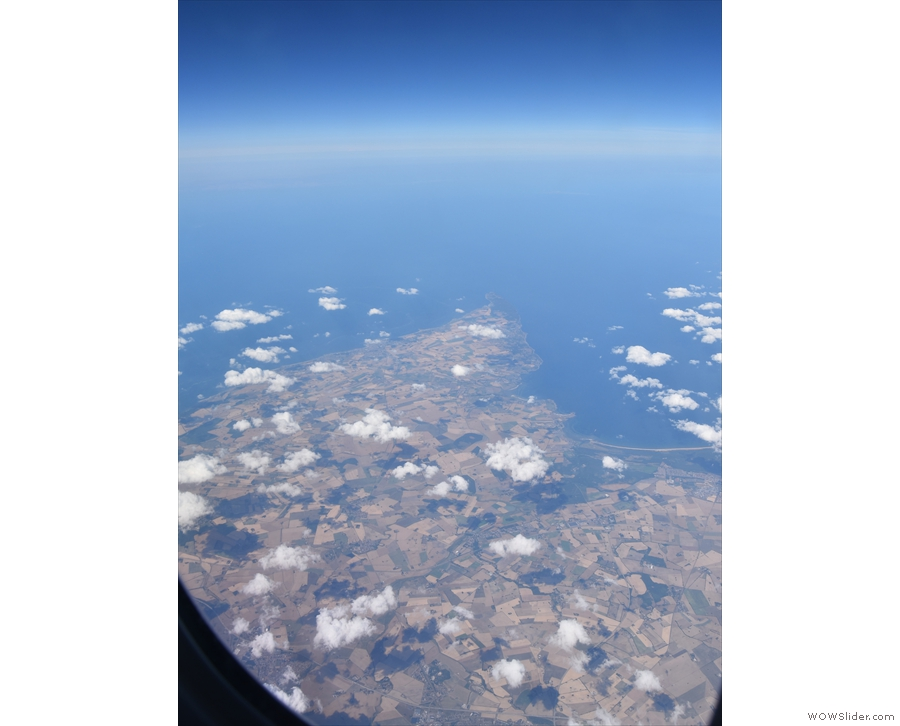 We passed over southern Sweden and then went just noth of Copenhagen...