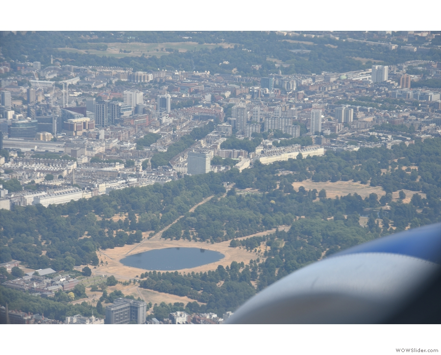 A last look at the Round Pond as we make our final approach to the Heathrow.