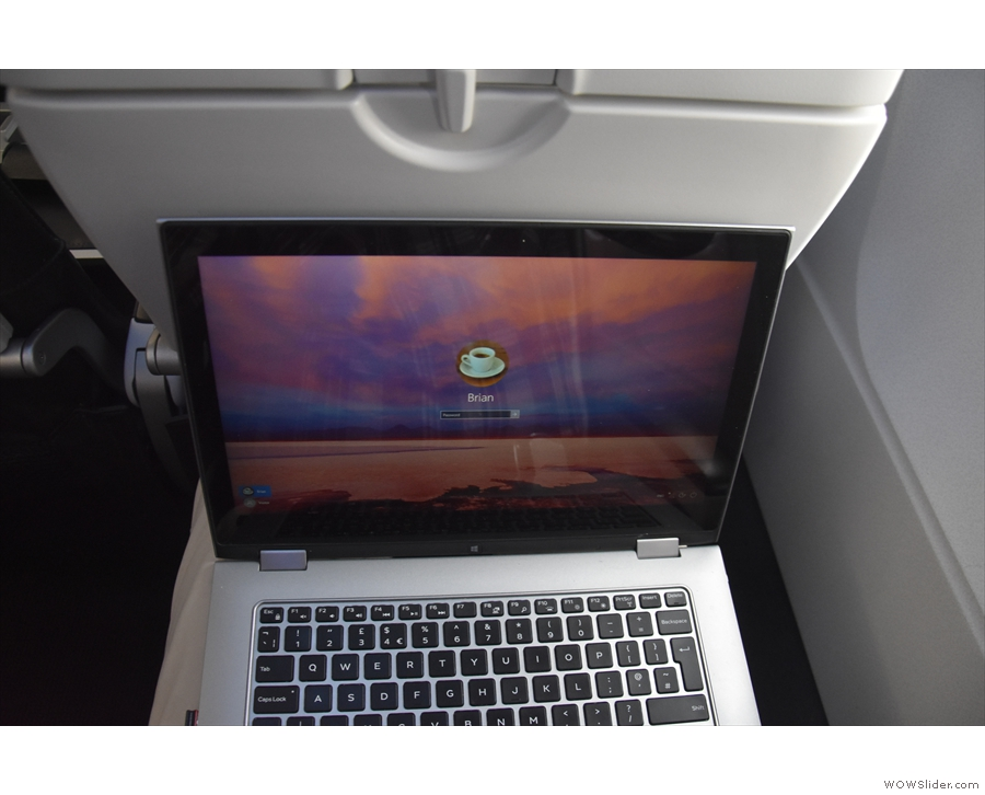 There's even enough room (just) for my laptop, as long as the seat in front isn't reclined.