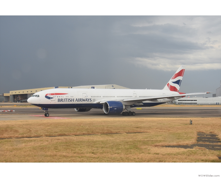 Just this British Airways 777-200 in front of us.
