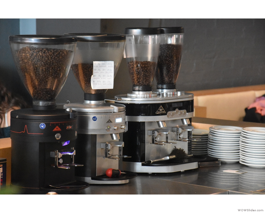 ... along with its four grinders. I was in the mood for espresso, so ordered...