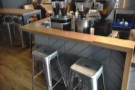 ... while there are three stools at the back of the counter, two down the side...