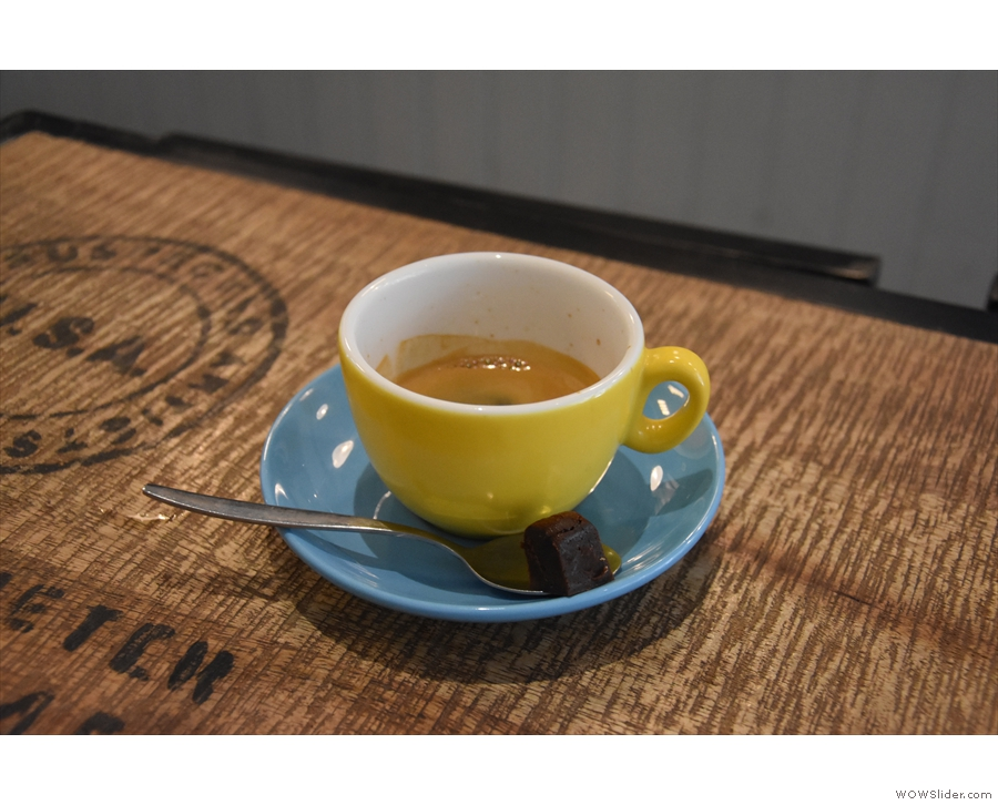 My espresso, made with the Honduras Norma Iris Fiallo from Clifton Coffee Roasters.
