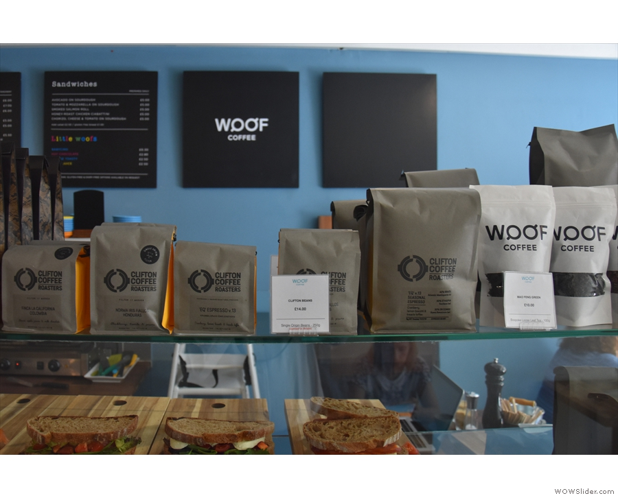 ... followed by various beans from that month's guest roaster (Clifton while I was there)...