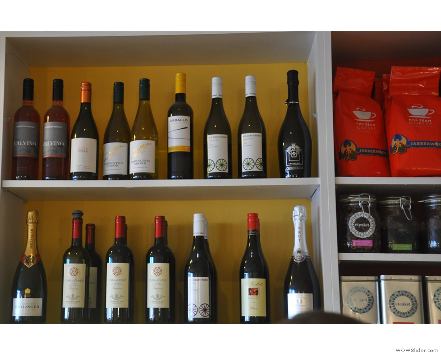 Or this fine selection of wine.