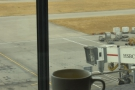 ... and here watching an outbound flight taxiing before take off.