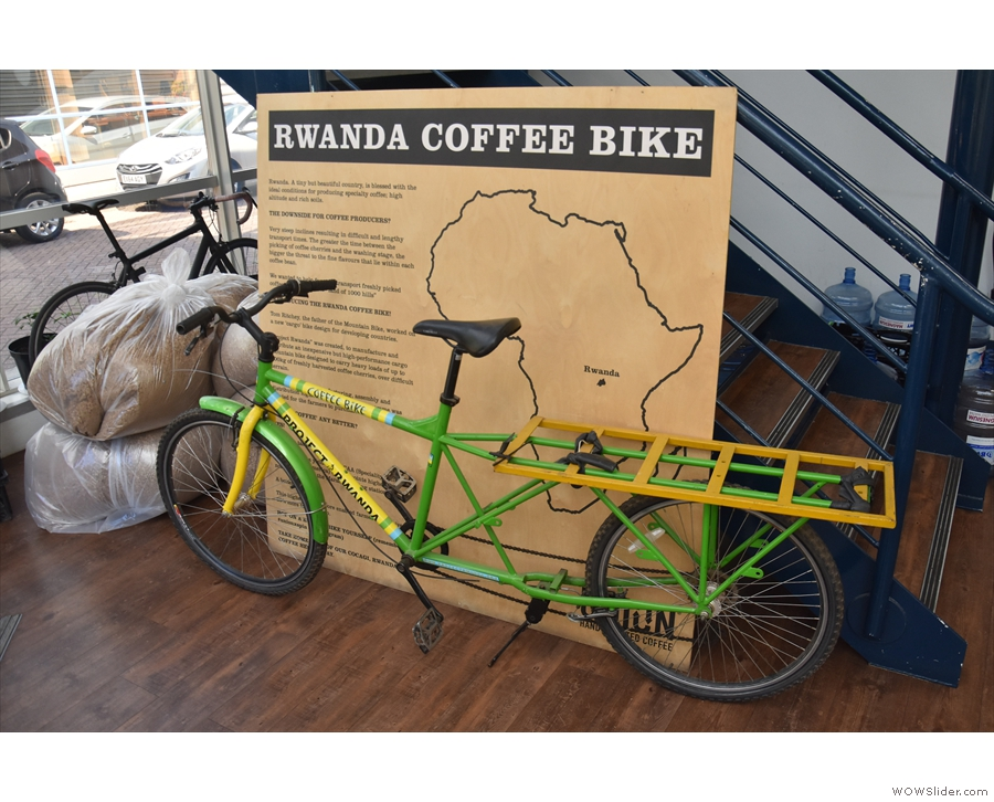 This, by the way, is specially design for transporting sacks of coffee in Rwanda. Neat.