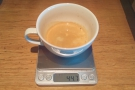 After visiting Union to talk about British Airways coffee, I decided to weigh the shot.