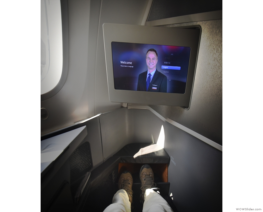 Being busiiness class, I had lots of room and, most importantly of all, leg room.
