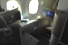... and here's my seat, 1A.