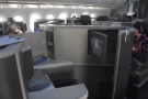 The cabin, seen from the front, by my seat. That's seat 2A, opposite...
