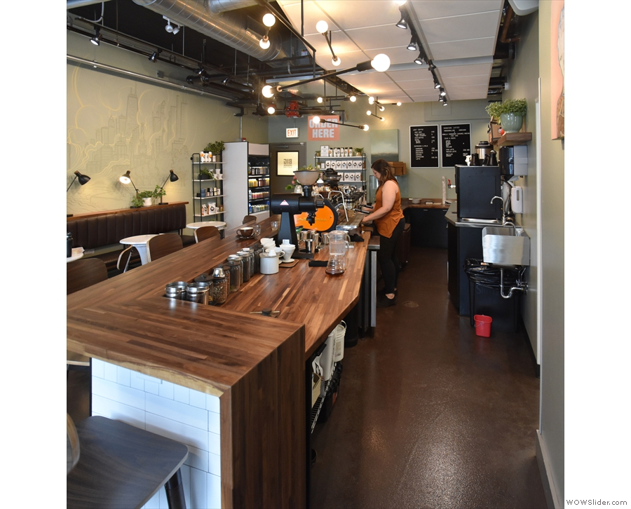 The view along the counter.