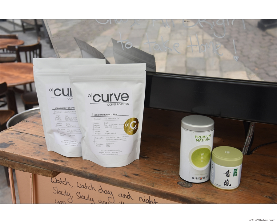 Talking of coffee, Matt gets his from Curve Coffee Roasters in Margate and has...