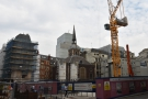 Not the most promising view, looking across a building site for the new Bank Station.