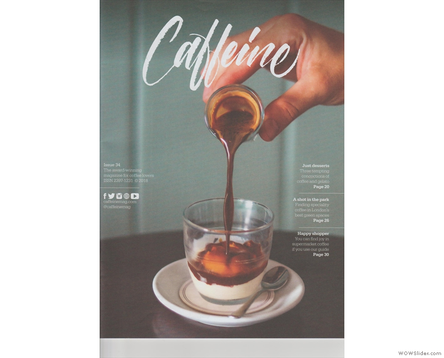 Issue 34 of Caffeine Magazine continues its celebration of summer...