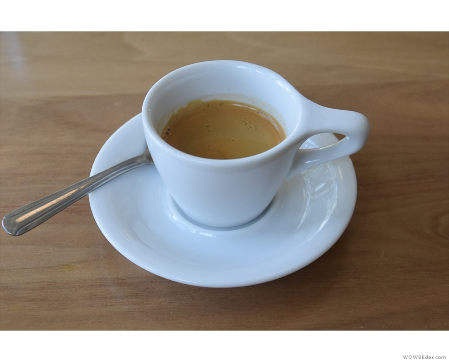Talking of which, I had the single-origin espresso, an organic Guatemalan Concepcion...