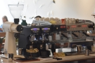 If you sit at the far side of the counter, you get a great view of the espresso machine.