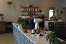 ... then the grinders and the La Marzocco Linea espresso machine.