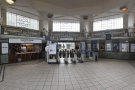 ... visible on the left-hand side next to the ticket barriers.