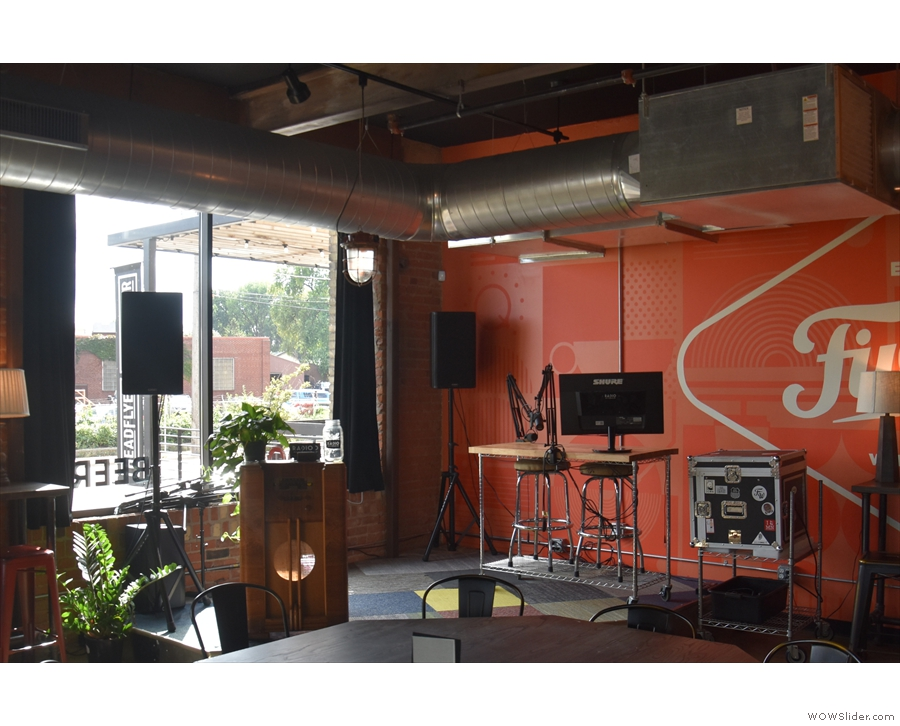 ... this stage, which acts as an open studio for Radio Five Watt.