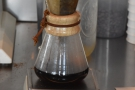 ... which I followed up with a pour-over, the Headliner blend through the Chemex...